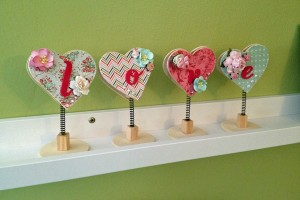L-O-V-E wooden decor