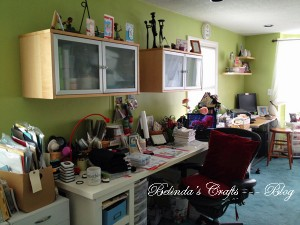 Wide angle of my craft room today.