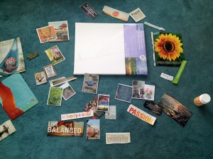 Preparing to make my 2013 Vision board.