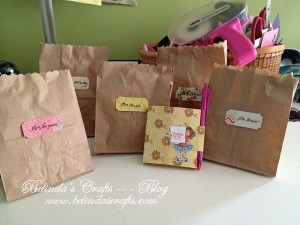 Gift bags with teacher's gifts