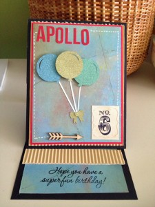 Birthday card I made for Apollo