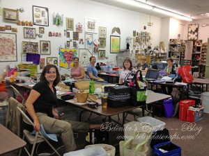 Some of my crafty friends I spent the day with on Saturday.