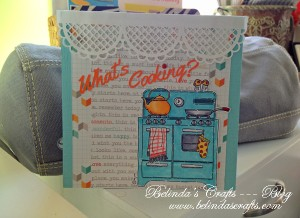 My first card I created with the October kit.