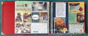 I used the September kit in my Project LIfe layout.