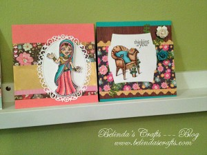 Close up of some of the cards made with the September kit.