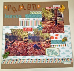 My first layout with the October kit from Cocoa Daisy.