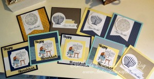 This is a set of Hannukah cards I made for 2013.