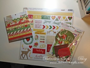 Hello December paper pack from Glitz and coordinates.