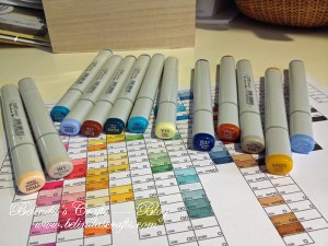 My new Copics markers.