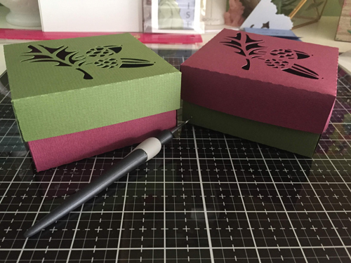 fall boxes created on the Silhouette.